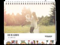 宝宝成长日记#-8寸单面印刷台历