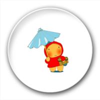 打伞的小孩-2.5徽章