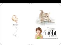 萌猫总动员-可爱猫咪控(亲子、写真、旅行、友情、爱情、闺蜜)-8x12对裱特种纸20p