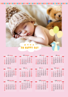 快乐的日子-A3章鱼贴竖款年历
