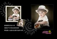 阳光街头 儿童 萌娃 宝贝 纪念 照片可替换-8x12高清绒面锁线80P