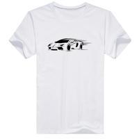 超酷跑车男款纯棉白色T恤