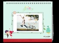 【青春浪漫之旅 】封面及内页人物照片可替换-10寸单面跨年台历