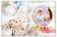 浪漫樱花-高清唯美-精美白色相框装饰-家庭聚会宝贝相册佳选-6x8照片书