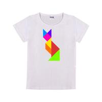 七巧板狐狸童装纯棉白色T恤