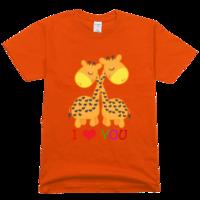 长颈鹿舒适彩色T恤