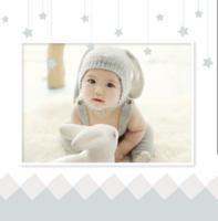星星宝贝- 亲子 全家福 宝宝成长记录册 (超大容量图文可换)-精美高档PU照片书8x8