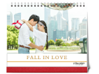 坠入爱河 fall in love-10寸双面印刷台历