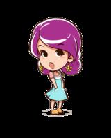 爱情公寓q版人物美嘉高档彩色纯棉长袖t恤
