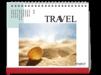 记忆旅行,时光印记。旅行,蜜月,闺蜜游-10寸双面跨年台历