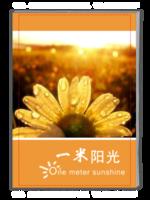 一米阳光文艺小清新封面照片可更换(青春、旅行、旅游、个人、亲子、宝宝)02-A4杂志册(32P)