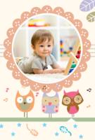 可爱插画-宝贝快乐时光-A5竖款胶装杂志册42p