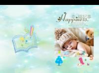 幸福记事 萌宝 亲子生活写真集 图文可替换-8x12对裱特种纸30p套装