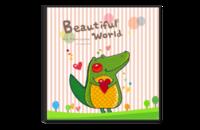 美丽世界我最爱-宝宝成长纪念册-8x8水晶博彩娱乐网站书