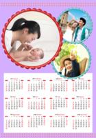 幸福甜甜圈(封面照片可更换)-A3章鱼贴竖款年历