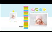 清新时尚 童年记忆 快乐宝贝happy baby 9241032-方8寸硬壳精装照片书