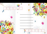 流行可爱漂亮鲜花颂-全景明信片(横款)套装
