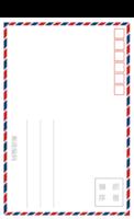 标准复古英伦风明信片模板复古与时尚的完美结合723820-等边留白明信片(竖款)套装
