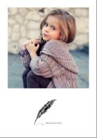 复古羽毛笔(时光荏苒)-5寸银盐拍立得照片(20张/套)