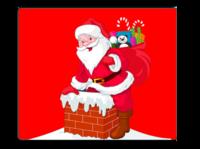 红色圣诞-个性鼠标垫