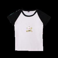 奔跑吧!喜洋洋-时尚童装插肩T恤