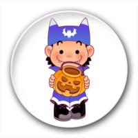 抱着南瓜灯的小孩-4.4个性徽章
