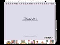 Dreamers追逐梦想勇敢前行-图文可改-时尚极简风-8寸双面印刷台历