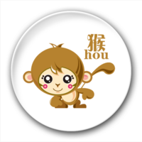 可爱的小猴子-2.5徽章