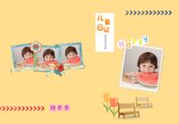 儿童日记 宝宝成长记-8X12锁线硬壳精装照片书40p
