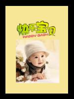 快乐宝贝-萌娃-亲子-照片可替换-A4杂志册(36P)