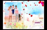 我们的幸福花园—影楼风格写真集-封面照片可更换-通用于全家福亲子、宝宝成长、情侣蜜月旅行、青春校园等—-8*12照片书