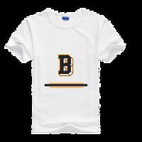 时尚字母B母版-莱卡纯色圆领男