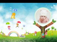 快乐宝贝萌萌哒 绿色清新可爱风 可爱宝宝成长记录册-硬壳精装照片书22p