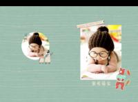 卡通小插画宝贝成长纪念册-A4硬壳照片书34p