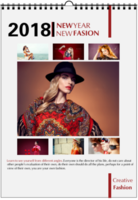 NEW FASION 新时尚(个人写真桌面台历) 高档原创欧美经典精品自由DIY-A3双月挂历