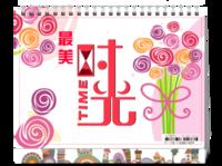 时光-xiaobagou记录美好生活时光点滴-8寸双面印刷台历