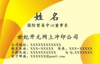 高档大气商务名片-双面pvc名片