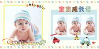 宝宝成长记录册 萌娃 儿童 宝贝 亲子写真 精美装饰-8x8PU照片书NewLife