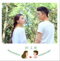 【她和他】我们的故事 送男友送女友 周年纪念-精美高档PU照片书8x8