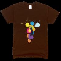 色彩青春舒适彩色T恤