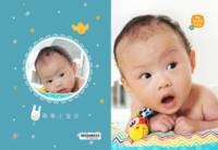 My lovely baby-宝宝诞生记-成长记-百天纪念册-8X12锁线硬壳精装照片书40p