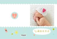 清新版 可爱萌宝成长记亲子宝贝1887-8x12高清绒面锁线40P