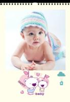小熊 可爱 照片可换-A3挂历