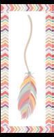 彩色时尚 羽毛情怀-定制单面书签
