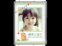 小清新绿色精灵小宝贝(记录成长回忆美好)-A4时尚杂志册(24p)