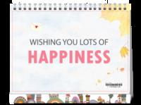 happiness-8寸单面印刷台历