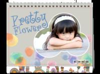 8寸可爱宝宝儿童相册-8寸单面印刷台历