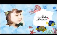 蔚蓝的梦-卡通宝宝亲子成长旅行写真纪念册-8x8对裱特种纸22p
