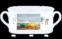 时光集(旅行,青春,爱情,全家福,纪念,礼物)(照片可换)-骨瓷白杯