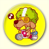 可爱卡通狗狗-4.4个性徽章